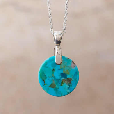 Round Turquoise Necklace, In Stock-SIG3022 - Jewelry by Johan