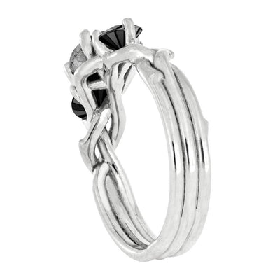 Three Stone Engagement Ring in Prong Setting