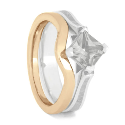 Plus Size Women's Rose Gold Wedding Band-3869RGX - Jewelry by Johan