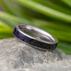 Blue Goldstone Wedding Band, Solid Titanium Ring, Size 7-RS10549 - Jewelry by Johan