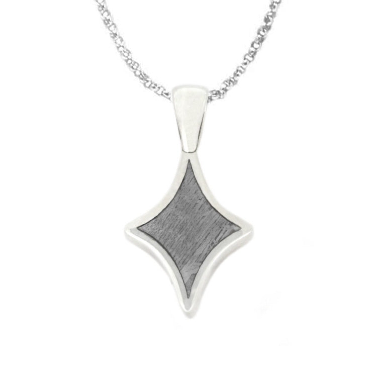 "Star Meteorite Pendant, 18"" Sterling Silver Necklace"