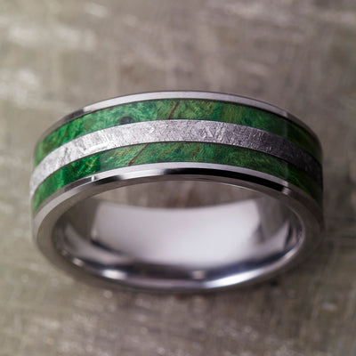 Tungsten Meteorite Ring