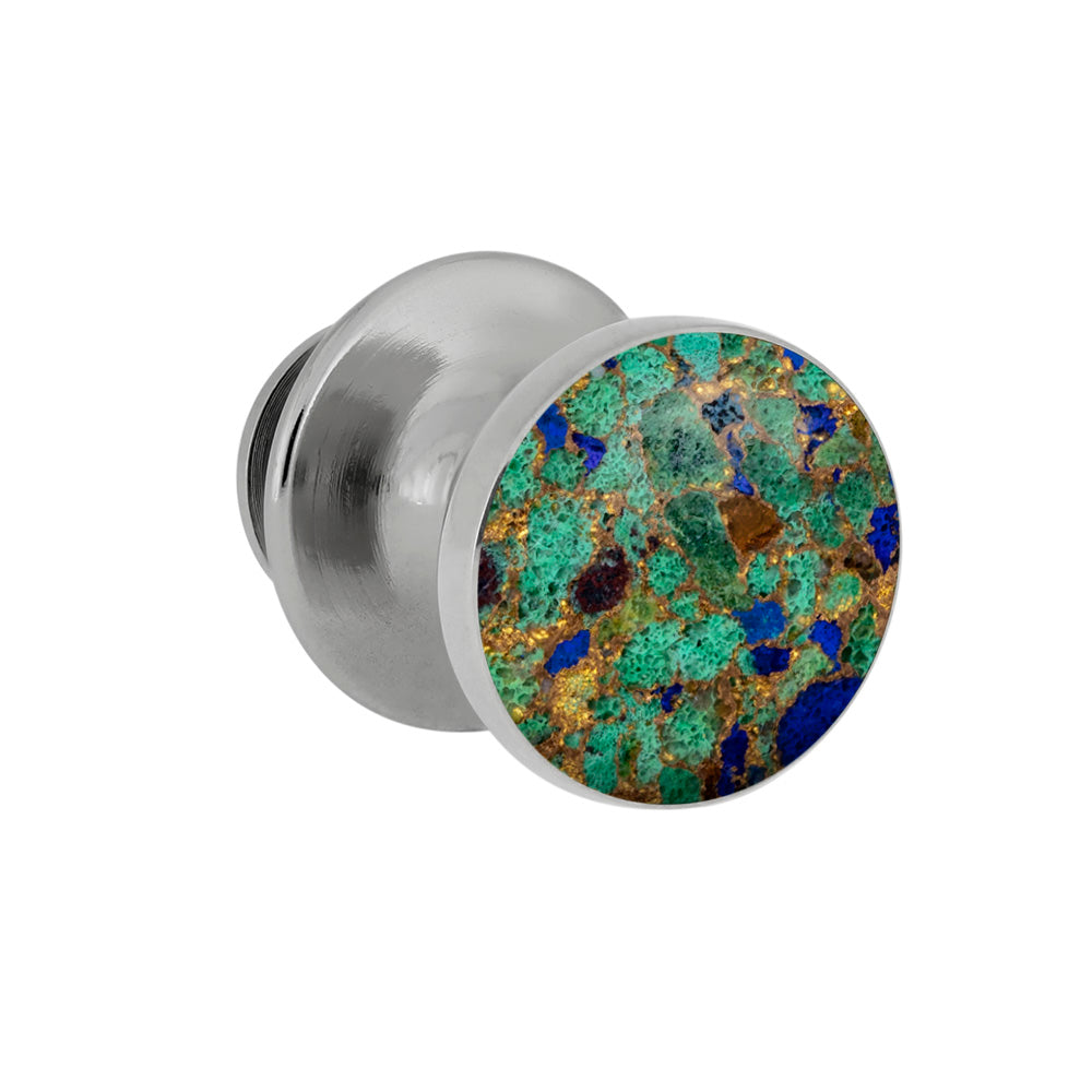 Desert Mosaic Tie Tack With Sterling Silver, Gem Alloy Accessory-3975