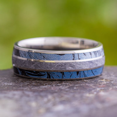 Men's Unique Titanium Ring