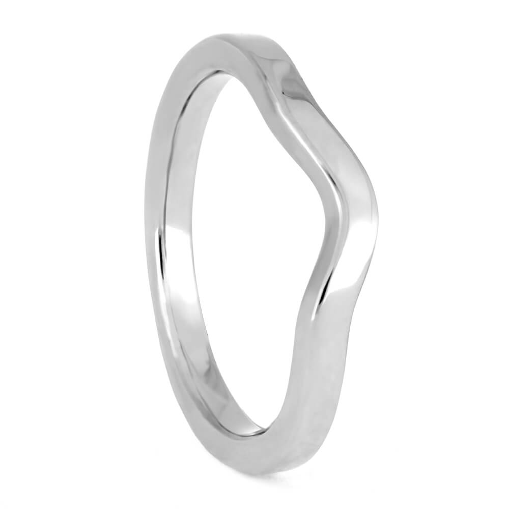 Minimalist Shadow Band, Custom Platinum Women's Wedding Band-3869PT - Jewelry by Johan