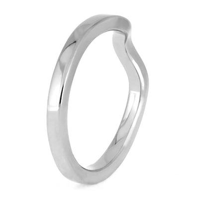 Minimalist Shadow Band, Handmade Platinum Wedding Band-4053