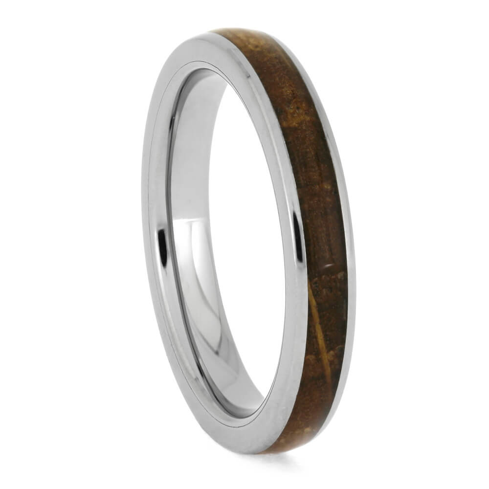 Whiskey Barrel Oak Wood Ring, Narrow Wood Wedding Band-4110 - Jewelry by Johan