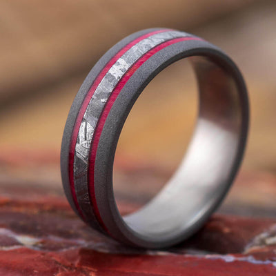 Men's Dark Wedding Band