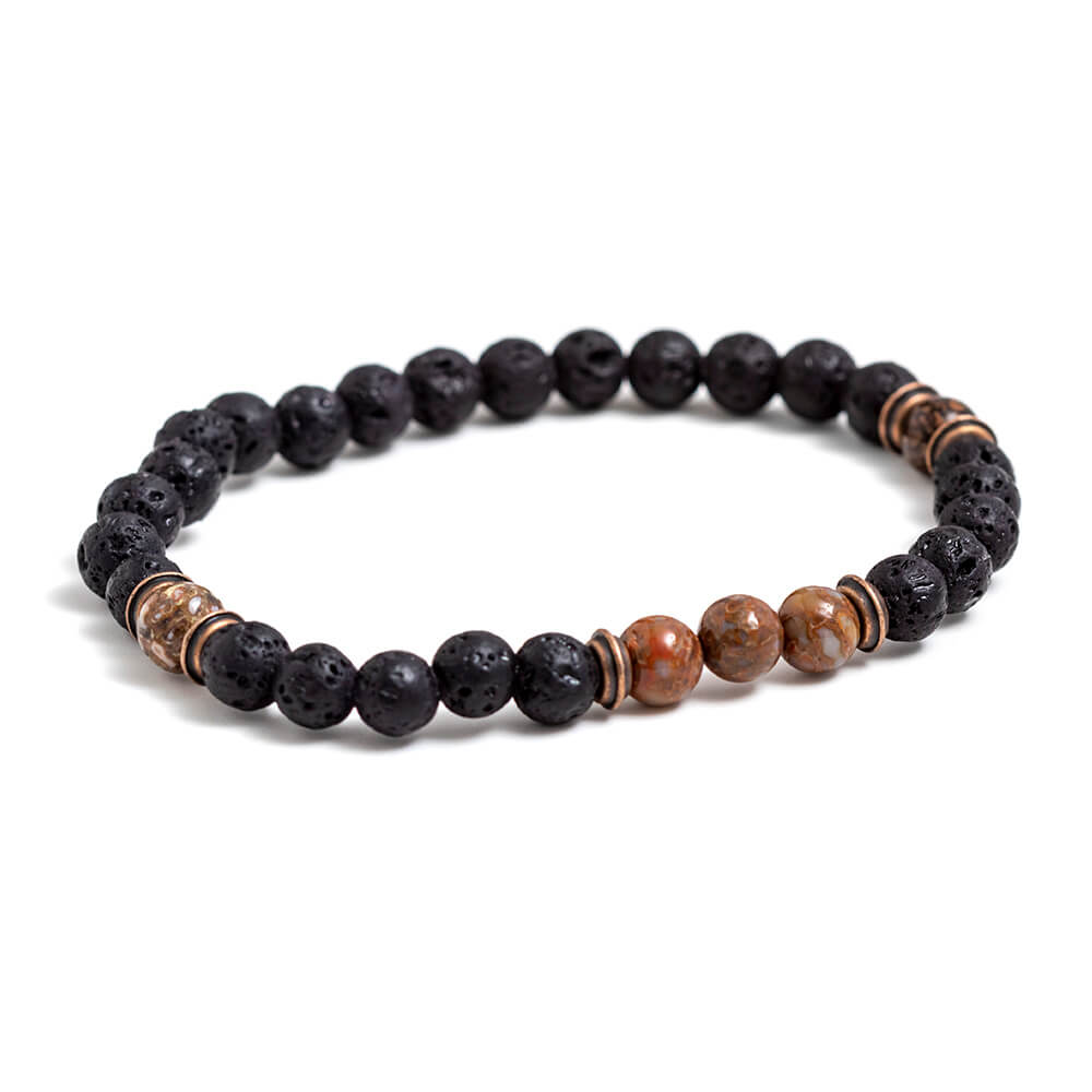 Triton Dinosaur Bone Bead Bracelet, In Stock-4162 - Jewelry by Johan