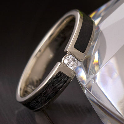 Vinyl Record Engagement Ring with Diamond-4416 - Jewelry by Johan