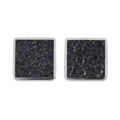 Square Dinosaur Bone Cuff Links-4510 - Jewelry by Johan
