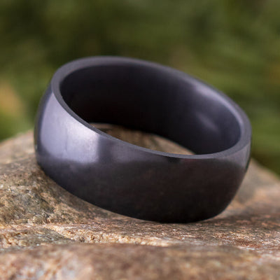 Elysium Ring with Rounded Profile, Black Ring with Polished Finish by Lashbrook Designs - EDP8 - Jewelry by Johan