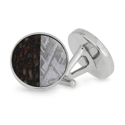 Meteorite And Fossil Cuff Links
