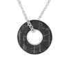 "30"" Gibeon Meteorite Necklace In Sterling Silver, Meteorite Washer Pendant-RS10338"