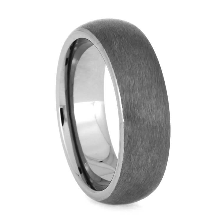 Simple Brushed Tungsten Wedding Band