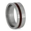 Bloodwood Ring In Matte Titanium Band-SIG3005