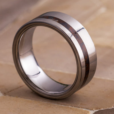 Tungsten Fossil Ring For Men