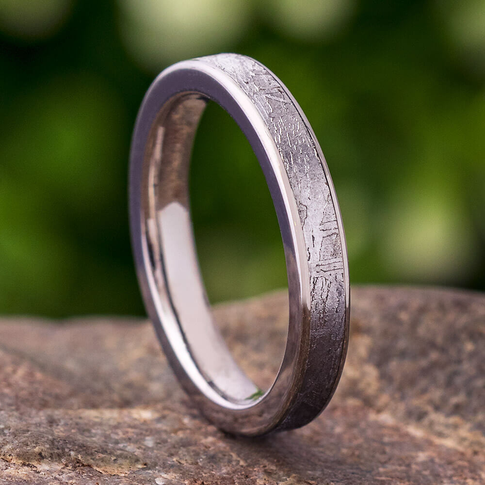 Titanium Meteorite Women's Wedding Band, In Stock-SIG3014 - Jewelry by Johan