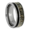 Deer Antler Wedding Band With Ironwood And Titanium-SIG3019