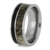 Deer Antler Wedding Band With Ironwood And Titanium-SIG3019 - Jewelry by Johan