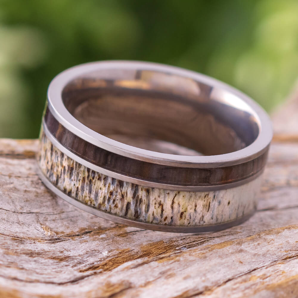 Antler & Ironwood Men's Wedding Band, In Stock-SIG3019 - Jewelry by Johan