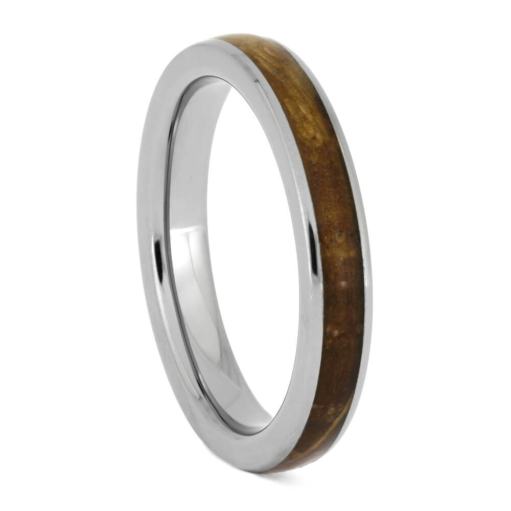 Whiskey Barrel Oak Ring, Handmade Titanium Wedding Band-SIG3023 - Jewelry by Johan