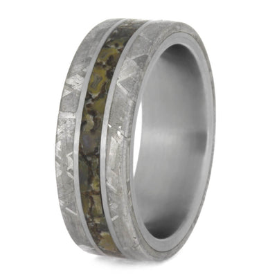 Fossil Ring With Titanium