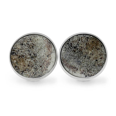 Sterling Silver Cuff Links with Deer Antler-SIG3047