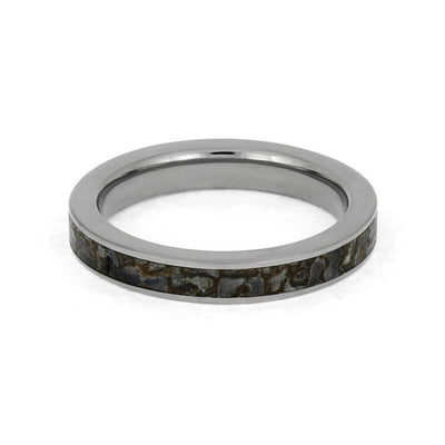 Plus Size Thin Dinosaur Bone Ring In Titanium-3844X - Jewelry by Johan
