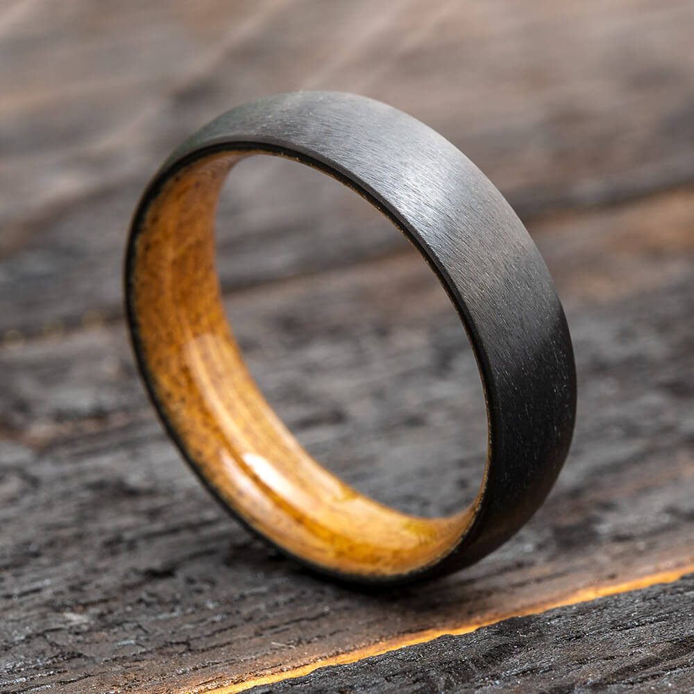 Whiskey Barrel Ring in Black Zirconium