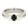 Sapphire and Diamond Platinum Engagement Ring with Meteorite Accent-4006 - Jewelry by Johan