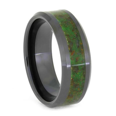 Glow in the Dark Men's Wedding Band With Dinosaur Bone-4038 - Jewelry by Johan