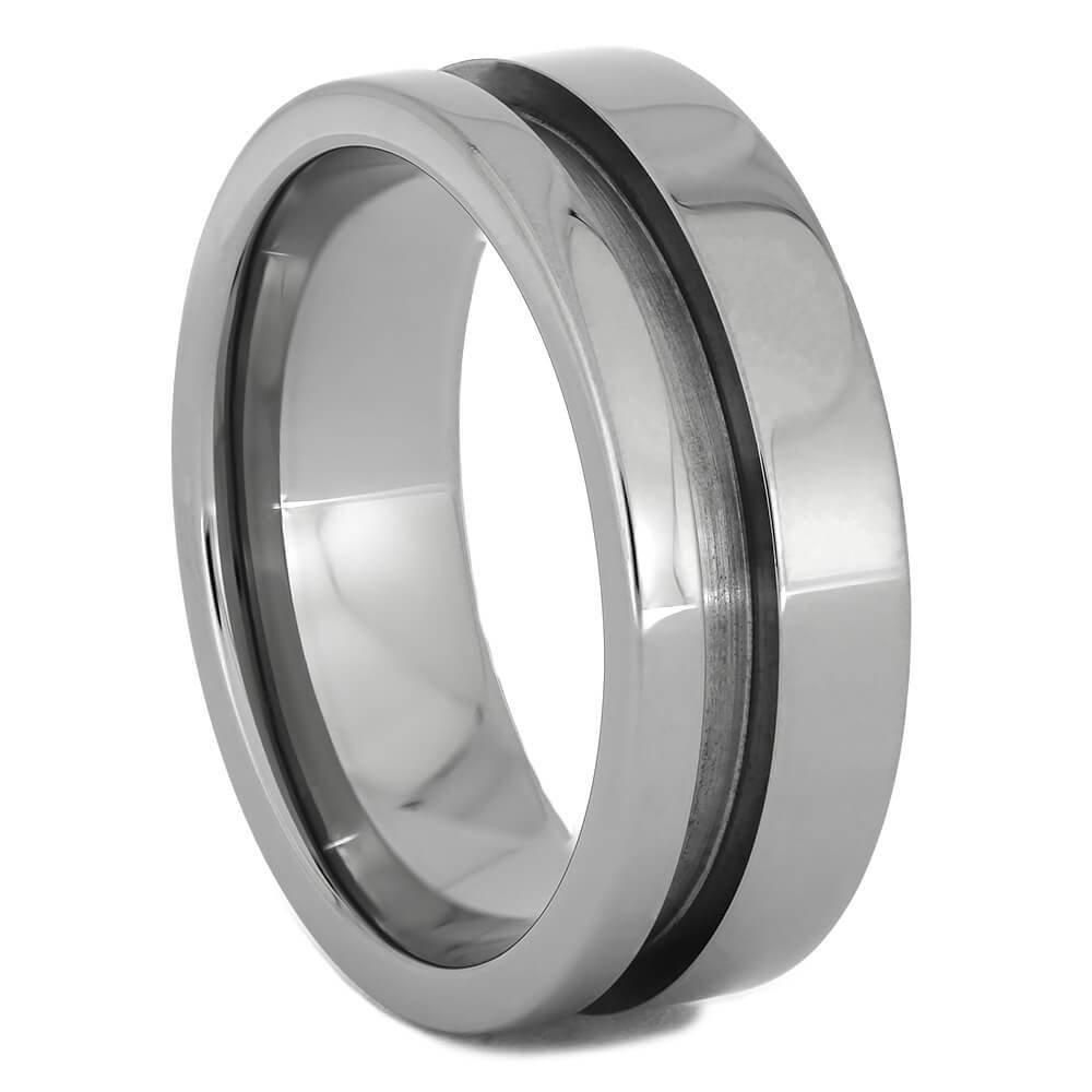 Interchangeable Core A, 8MM Titanium Ring With Off-Set Design-INTCORE-A - Jewelry by Johan