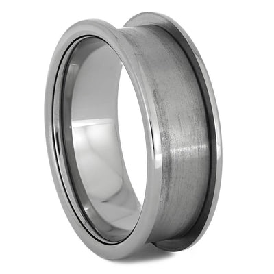 Interchangeable Core C, 8MM Titanium Ring with 1MM Edges-INTCORE-C - Jewelry by Johan