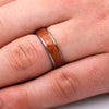 Round Bloodwood Ring, Titanium Wedding Band For Men-2376 - Jewelry by Johan
