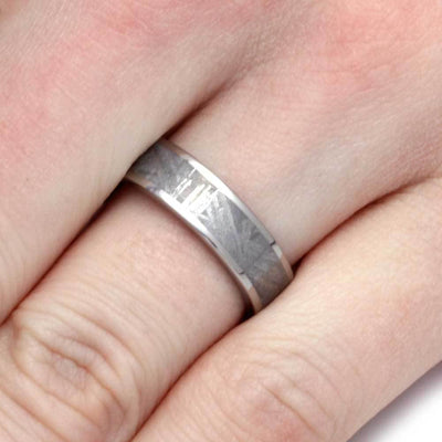 Gibeon Meteorite Ring in Titanium-1159 - Jewelry by Johan