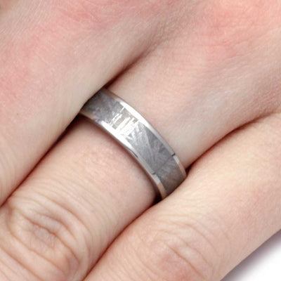 Gibeon Meteorite Ring for Man, Titanium Band-SIG3013 - Jewelry by Johan