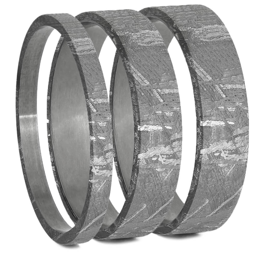 Meteorite Inlays For Interchangeable Rings, 2MM, 5MM or 6MM-INTCOMP-MET - Jewelry by Johan