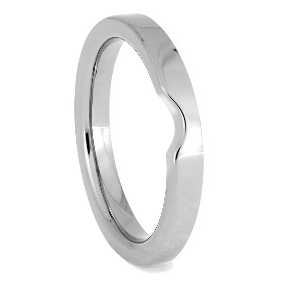 Minimalist Shadow Band, Custom Platinum Women's Wedding Band-4136PT - Jewelry by Johan