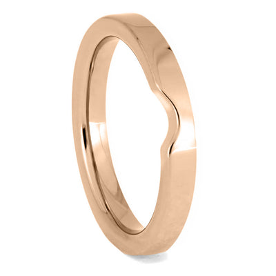 Custom Women's Rose Gold Wedding Band, 2mm Flat Profile Shadow Band-4136RG - Jewelry by Johan