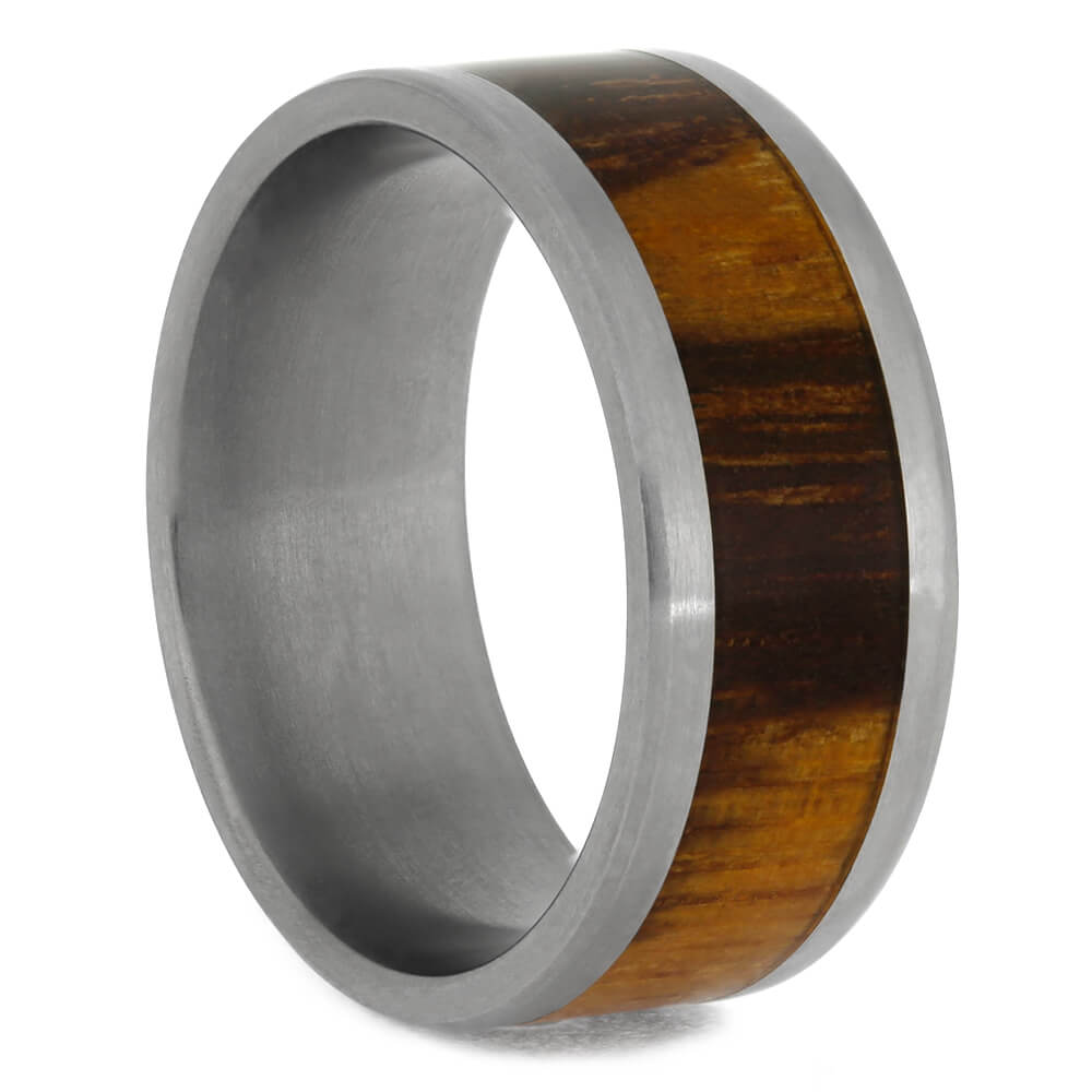 Marblewood Wedding Band With Titanium Ring, Size 7.5-RS10087 - Jewelry by Johan