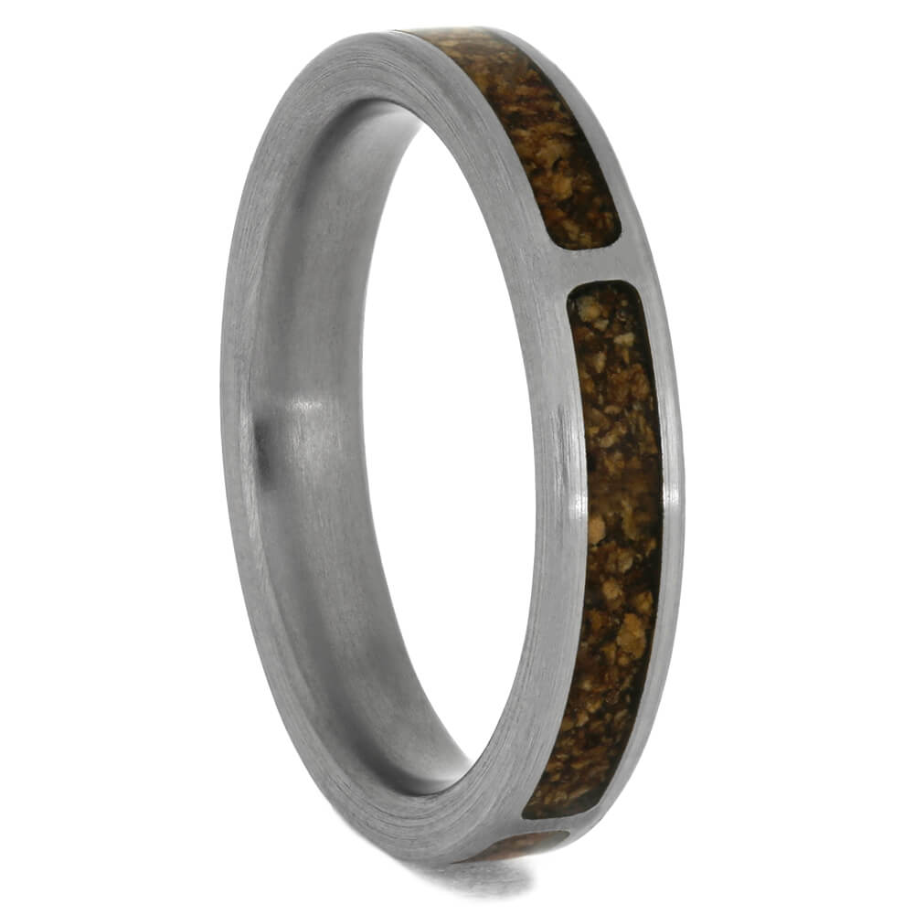 Crushed Cork Wood Ring, Ring for Wine Lover, Size 6.5-RS10307 - Jewelry by Johan