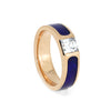 Cubic Zirconia Engagement Ring, Lapis Ring in Rose Gold Size 6-RS10313