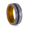 Meteorite, Lapis Lazuli And Whiskey Barrel Oak Men's Wedding Band, Size 7-RS10350 - Jewelry by Johan