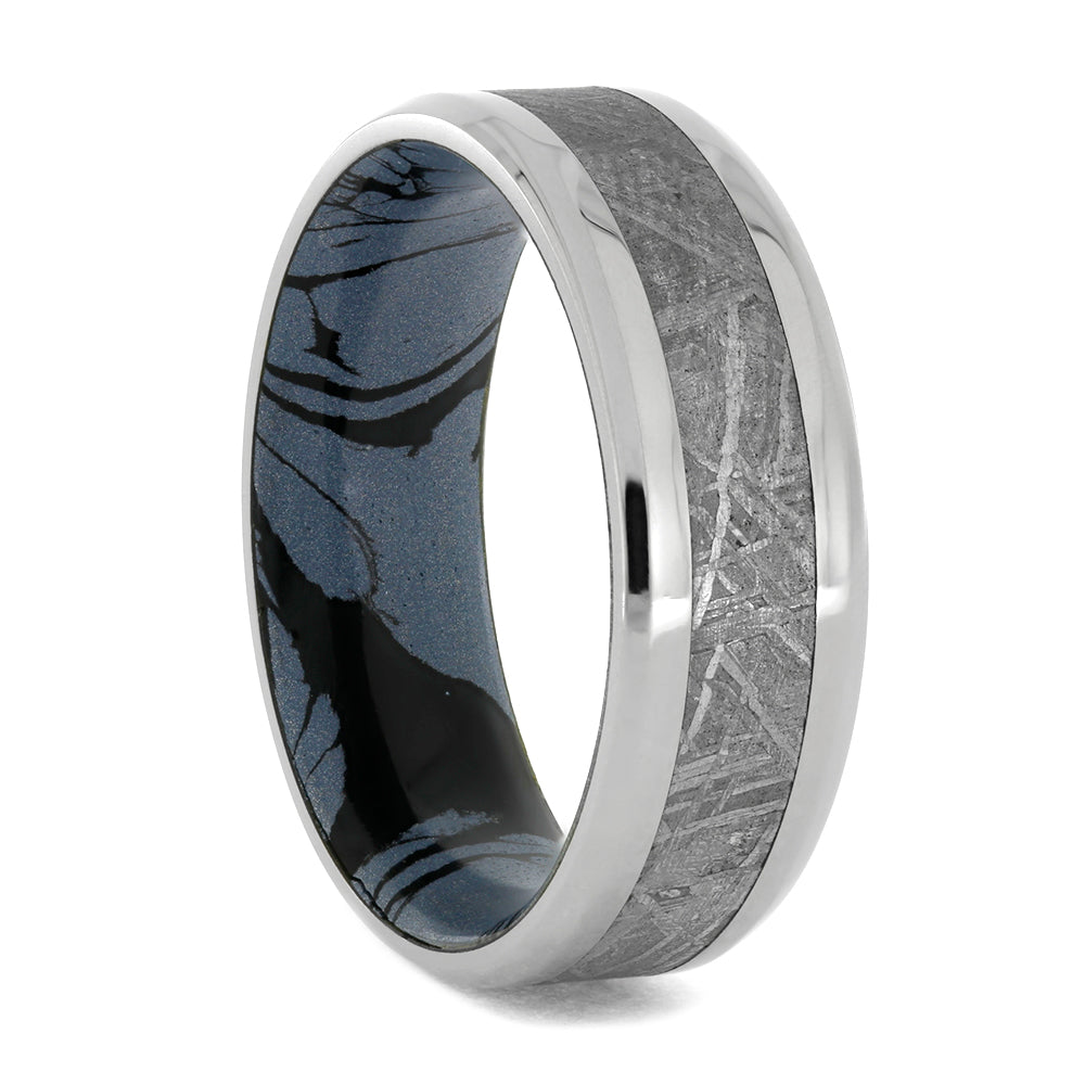 Gibeon Meteorite And Cobaltium Mokume Ring, Size 11.75-RS10371 - Jewelry by Johan