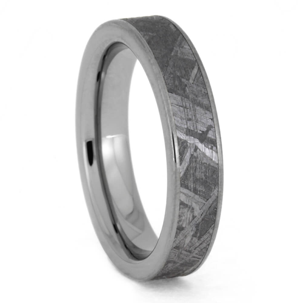 Women's Meteorite Wedding Band In Thin Titanium Ring, Size 4.75-RS10443 - Jewelry by Johan