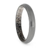 Brushed Titanium Ring with Deer Antler Sleeve, Size 10-RS10453
