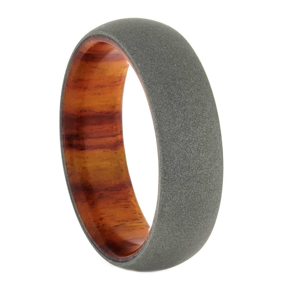 Men's Wedding Band with Wood Sleeve, Size 10.5-RS10541 - Jewelry by Johan