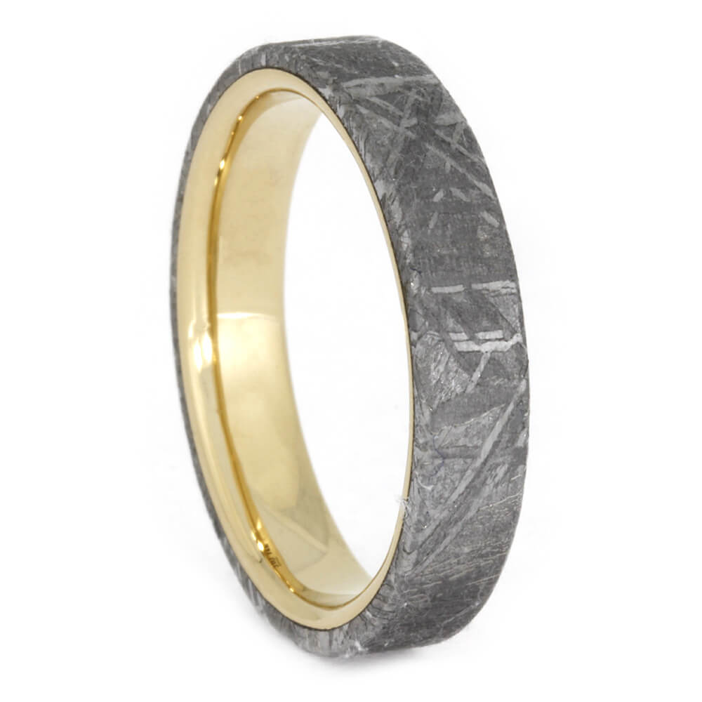 Yellow Gold Gibeon Meteorite Ring, Size 8.25-RS10556 - Jewelry by Johan