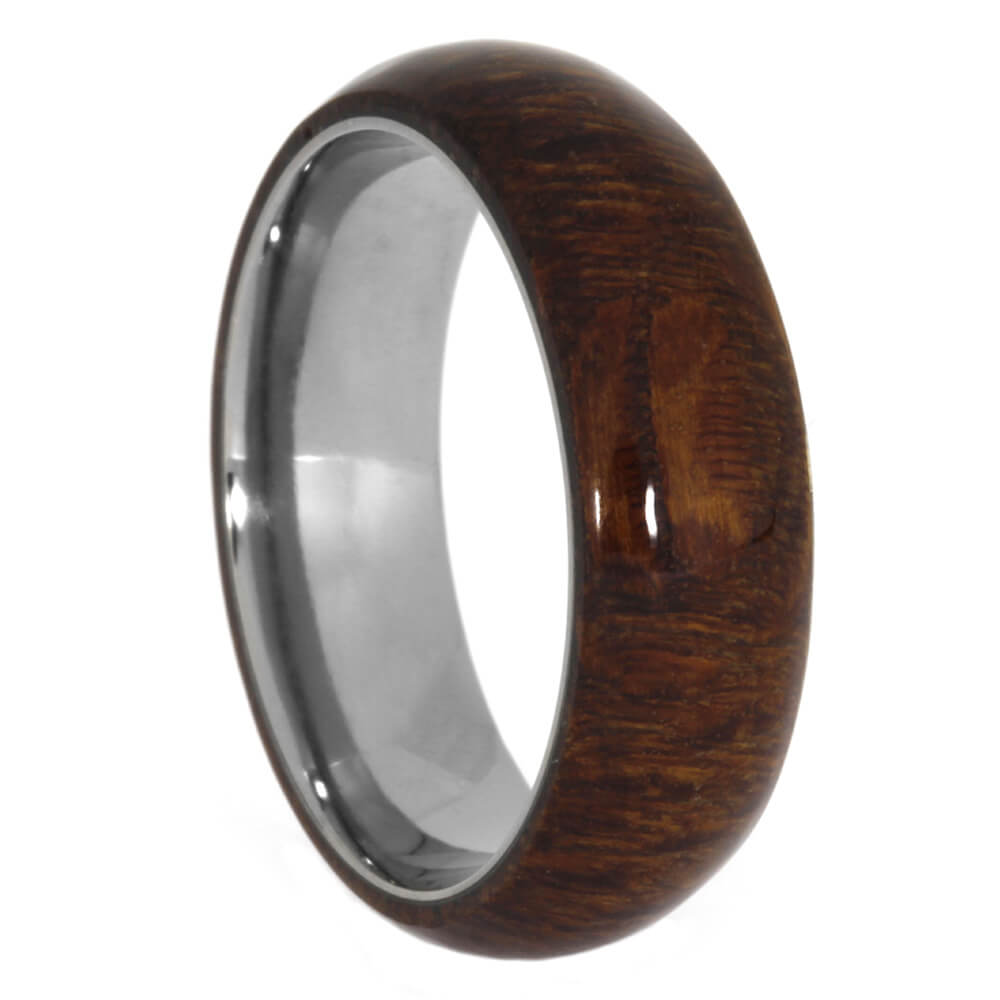 Leopard Wood Men's Ring in Titanium, Size 10.75-RS10564 - Jewelry by Johan